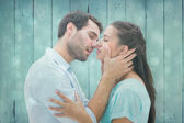 Young couple about to kiss — Stock Photo
