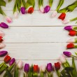 Tulips forming frame — Stock Photo #68954199