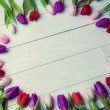 Tulips forming frame — Stock Photo #68956139