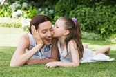 Mother and daughter spending time — Stock Photo