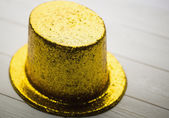 Gold party hat — Stock Photo