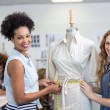 Female fashion designers at work — Stock Photo #68978545