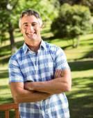Casual man smiling at camera — Stock Photo