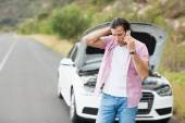 Man after a car breakdown — Stock Photo
