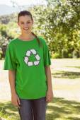 Environmental activist smiling at camera — Stock Photo