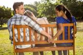 Man being unfaithful in the park — Stock Photo