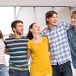 College students standing with arms around — Stock Photo #68986031