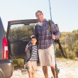 Father and son on a fishing trip — Stock Photo #68987655