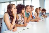 Fashion students being attentive in class — Stock Photo