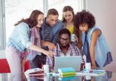Fashion students working as a team  — Zdjęcie stockowe