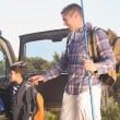 Father and son on a fishing trip — Stock Photo #68990275