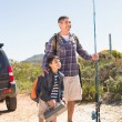 Father and son on a fishing trip — Stock Photo #68991383