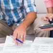 Couple calculating finances at home — Stock Photo #68991669