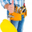 Manual worker gesturing thumbs up — Stock Photo #68992685
