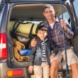 Father and son on a fishing trip — Stock Photo #68994571