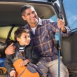 Father and son on a fishing trip — Stock Photo #68998585