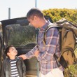 Father and son on a fishing trip — Stock Photo #68999045