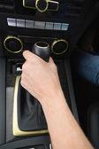 Woman using gearshift — Stock Photo