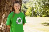 Environmental activist smiling — Stock Photo