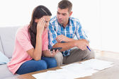 Couple calculating home finances together — Stock Photo