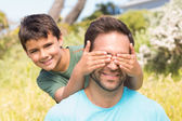 Father and son in the countryside — Stock Photo