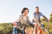 Father and son on a bike ride — Stock fotografie