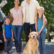 Happy family getting ready for road trip — Stock Photo #69001215