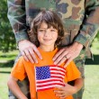 Soldier reunited with his son — Stock Photo #69004051
