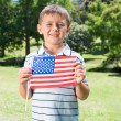 Little boy waving american flag — Stock Photo #69006841