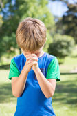 Little boy saying his prayers — Stock Photo