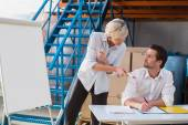 Focused warehouse managers — Stock Photo