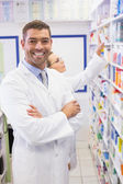 Pharmacist looking at camera — Stock Photo