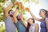 Hipster friends having a beer together — Stock Photo