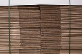Stack of cardboard in warehouse — Stock Photo