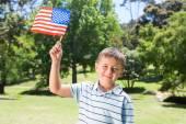 Little boy waving american flag — Stock Photo
