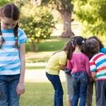 Little girl feeling left out in park — Stock Photo #69010393
