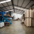 Containers in a large warehouse — Stock Photo #69012587