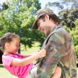 Soldier reunited with his daughter — Stock Photo #69014491