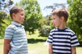 Little boys having a fight — Stock Photo