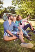 Hipster friends taking a selfie — Stock Photo