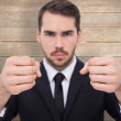 Exasperated businessman with clenched fists — Stock Photo #69028335