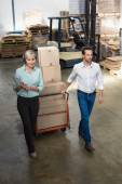 Manager walking with her colleague — Stock Photo