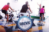 The word drive and spin class working out — Stock Photo