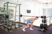 Man exercising with dumbbell — Stock Photo