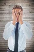 头痛的商人 — 图库照片