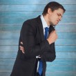 Thinking businessman holding pen — Stock Photo #69032195