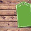 Elegant green tag — Stock Photo #69038403