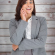 Pretty businesswoman thinking — Stock Photo #69039649