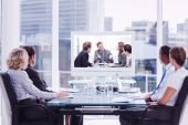 Business people looking at a screen — Stock Photo