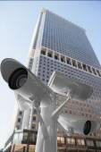 Composite image of cctv cameras — Stock Photo